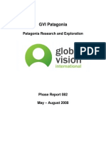 GVI Patagonia Expedition Science Report (April-July 2008)