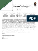 Pronunciation Challenge 013 Answer