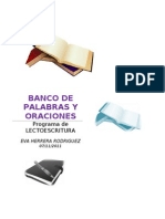 Banco de Palabras y Oraciones Por Letras