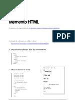 Memento HTML