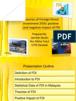 FDI Theory Positive and Negative Impact
