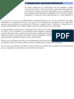 Agregados y problemas macroeconómicos