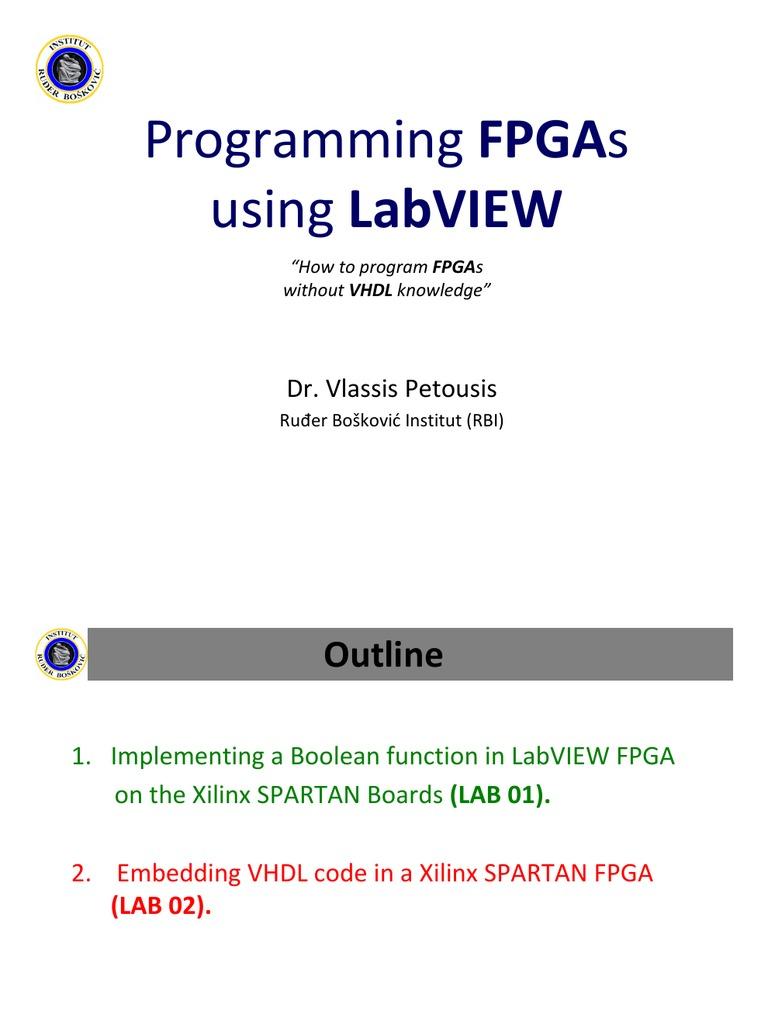 programando fpgas con labview field programmable gate array vhdl rh scribd com National Instruments FPGA Board FPGA Software