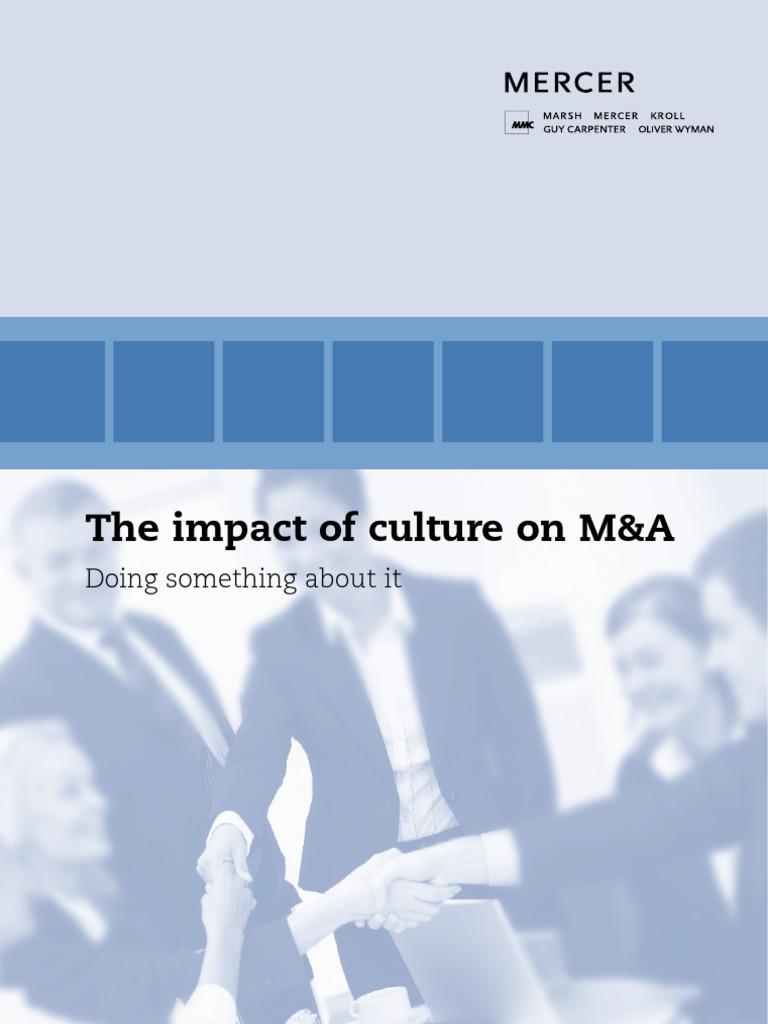 Mercer Impactculturematransactions Daimler Ag Mergers And