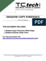 Forensics-Shadow Copy Presentation
