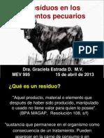 Residuos en Los Alimentos de Origen Pecuario