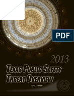 Texas Public Safety Threat Overview 2013