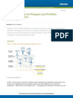 Agenda Overview for Program and Portfolio Management 2013