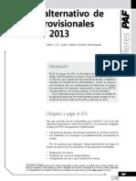 Cálculo alternativo de pagos provisionales 2013