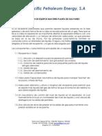 Descripción de Equipos de Proceso_Planta de Gas
