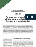Artigo Sobre Masculinidades e Feminismo - Benedito Medrado e Jorge Lyra