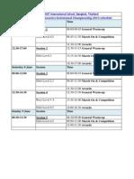 3rd BKK Gymnastics Invitational Schedule
