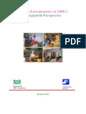 Women Entrepreneurs in SMEs of Bangladesh | Entrepreneurship