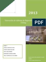 Cuantificacion de Naproxeno en Tabletas de 550mg
