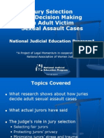 PowerPoint Slides with Suggested Commentary - Jury Selection and Decision Making in Adult Victim Sexual Assault Cases