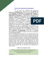 Nueva Directiva de Garantias Posesorias y Personales