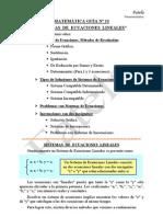 13) Sistemas de Ecuaciones Lineales