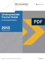 Undergraduate Course Guide 2015 for International students