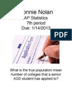 confidence interval project pdf sl