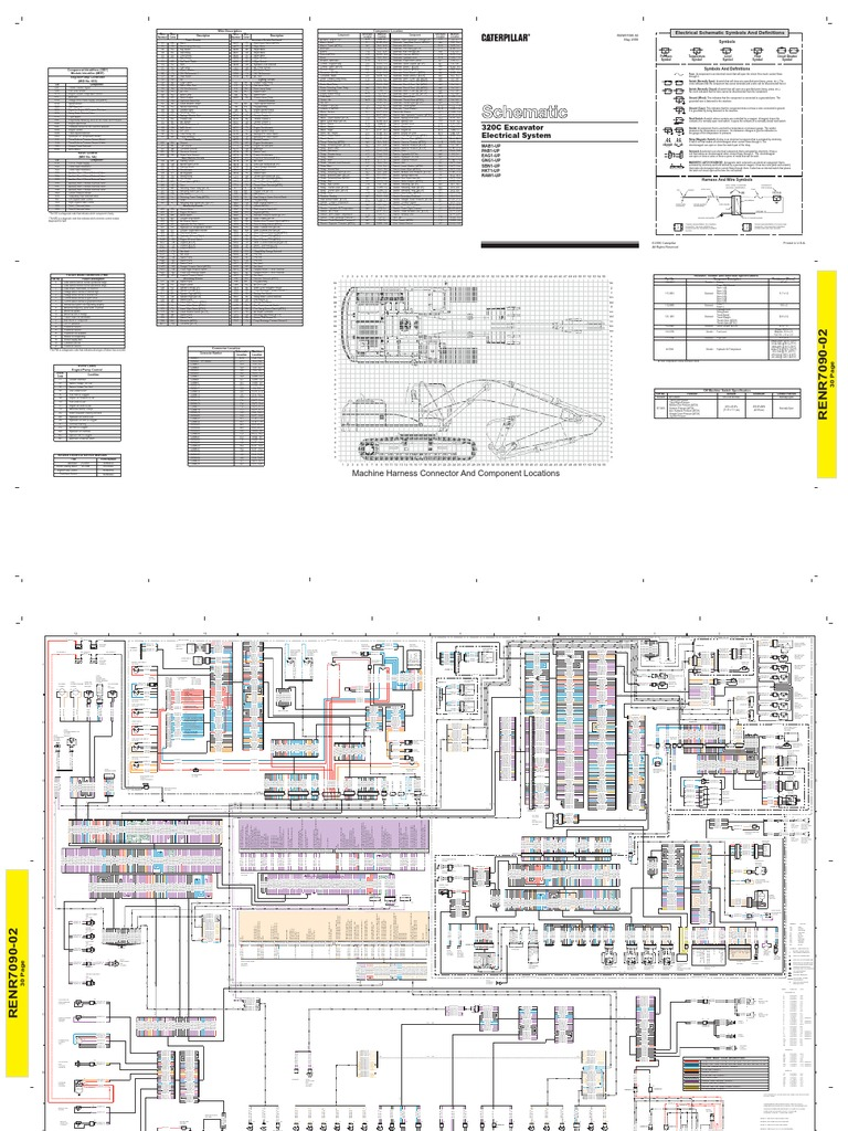 116292032 320c hydraulic excavator electrical schematic rh scribd com Cat Excavators Cat 320L Weight