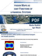 Diffusion Maps as Invariant Functions of Dynamical Systems