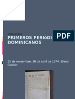 Primeros periódicos dominicanos