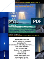 Inspiring Thoughts of Swami Vivekananda on Serve Man as God - Part 4