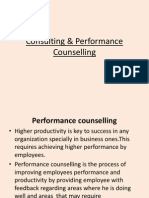 Consulting performance counselling
