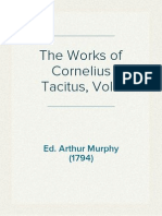 The Works of Cornelius Tacitus, Vol 1 - Ed Arthur Murphy (1794)