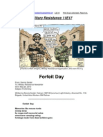 Military Resistance 11E17 Forfeit Day