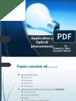 Application of optical Phenomenon