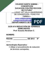Guía4 Reducción de términos semejantes 5° 2012 (1).doc