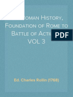 The Roman History, Foundation of Rome to Battle of Actium, VOL 3 of 10 - Charles Rollin (1768) John Adams Library