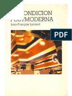 Jean Francois Lyotard La Condicion Postmoderna