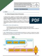 CI5_Cours_organisation Fonctionnelle d'Une Chaine d'Information