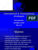 international & transnational strategies