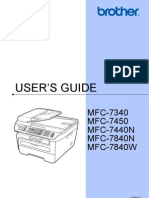 Brother MFC-7450 Manual