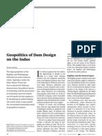 Geopolitics of Dam Design on the Indus