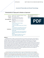 5- Dimensionality of Coping and Its Relation to Depression