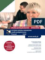 Informator 2013 - Studia Podyplomowe - Wyższa Szkoła Bankowa w Poznaniu