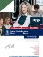 Informator 2013 - Studia Podyplomowe - Wyższa Szkoła Bankowa w Gdańsku