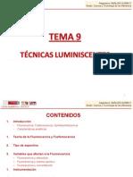 TEMA 9. Técnicas luminiscentes.