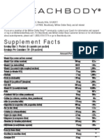 P90X Peak Health Formula 08-23-07