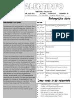 Talent-info 31-2012-2013