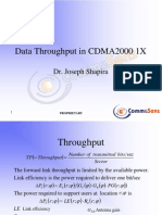 Data Throughput in CDMA 2000 cellular network