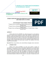 Energy Efficient Routing Protocol to Increase Manet Life Time Using Cluster-2