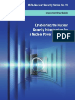 Establishing the nuclear security infrastructure for a nuclear power programme : implementing guide