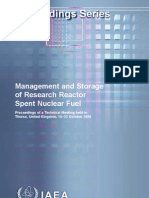 Management and storage of research reactor spent nuclear fuel :
