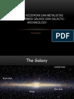 Distribusi kecepatan dan metalisitas bintang, formasi Galaksi.pptx