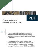 Chiesa Italiana e Comunicazione In Rete 1